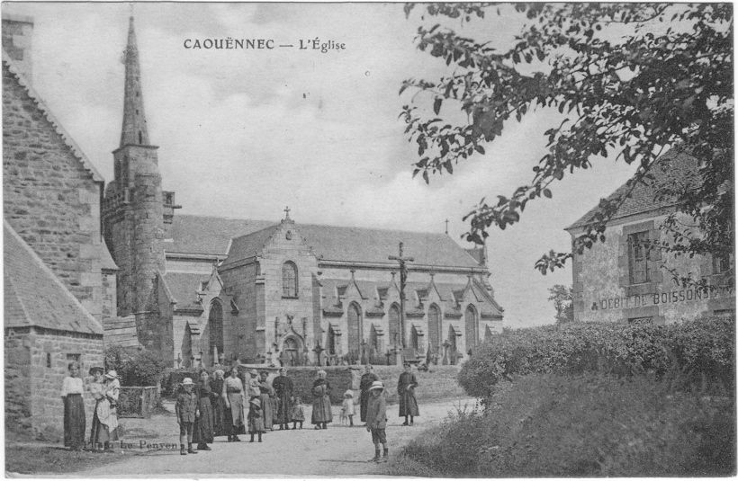 Caouennec bourg 1911